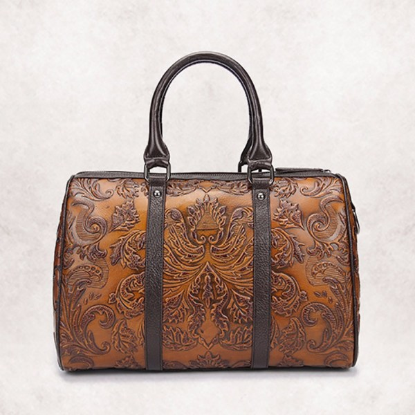 Vintage Embossed Leather Handbag