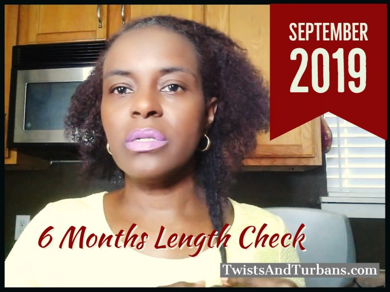 6 Months Length Check 2019 | Natural Hair Growth