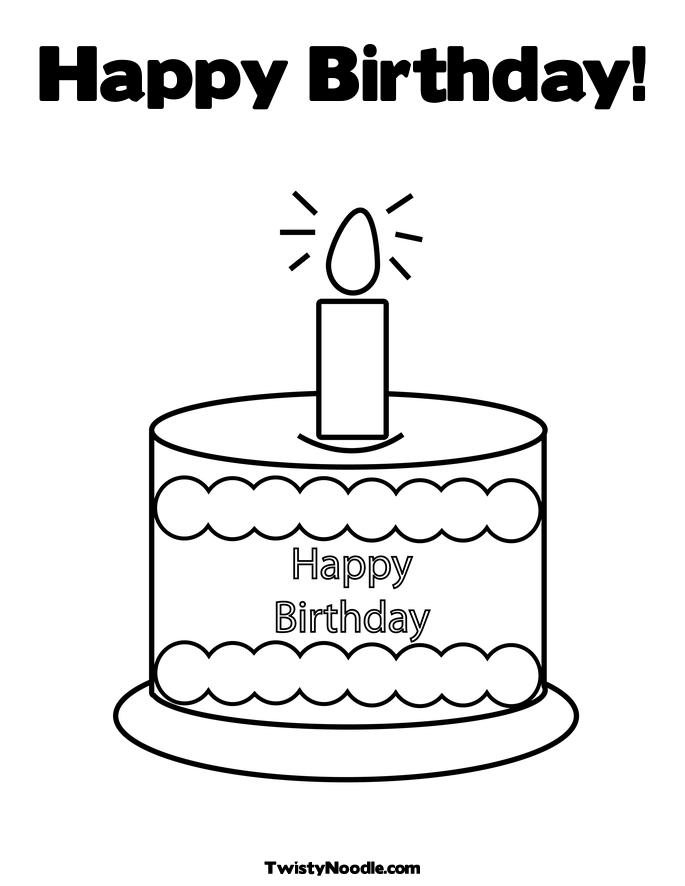 Pencil Of Birthday Cake Coloring Pages