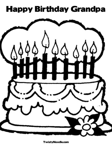 Happy birthday grandpa coloring pages
