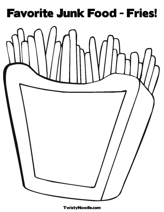 JUNK FOOD COLORING PAGES « Free Coloring Pages