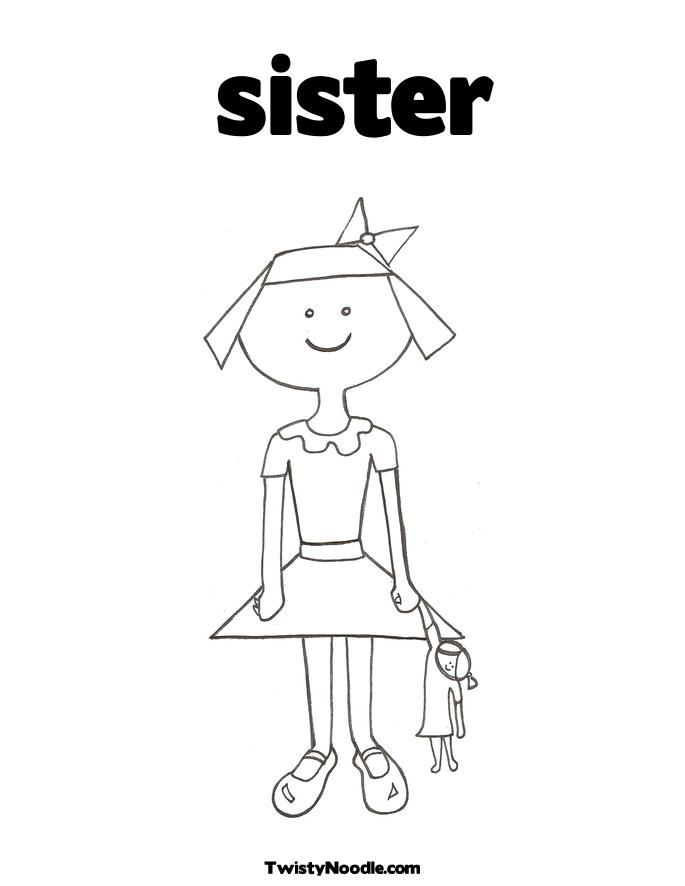 COLORING BOOK PAGES SISTERS « Free Coloring Pages