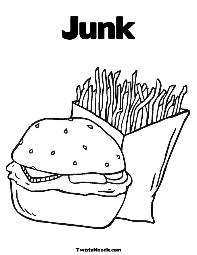 COLORING FOOD JUNK PAGE « Free Coloring Pages