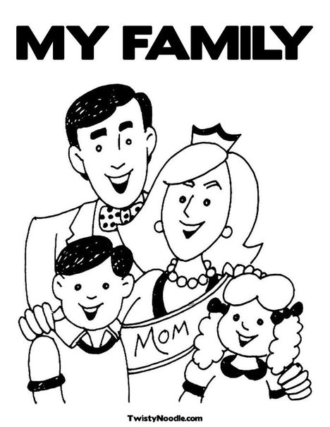 Free coloring pages of my family tree