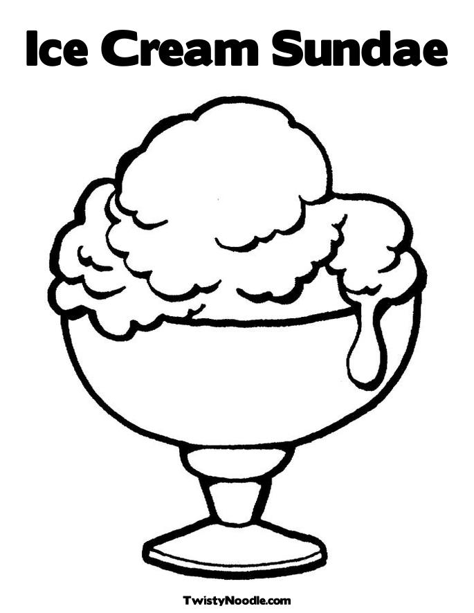 Ice Cream Sundae Coloring Pages