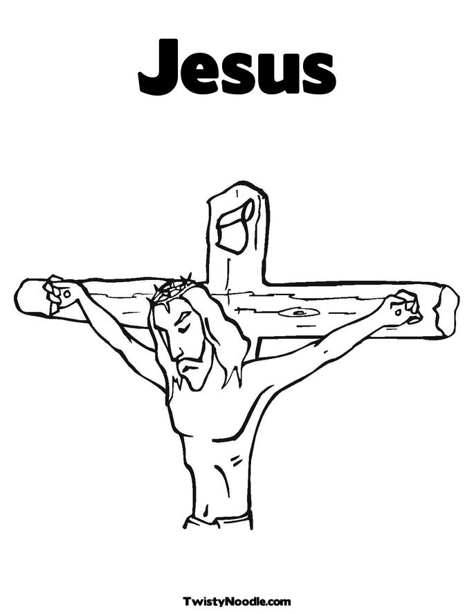 Free coloring pages of jesus cross