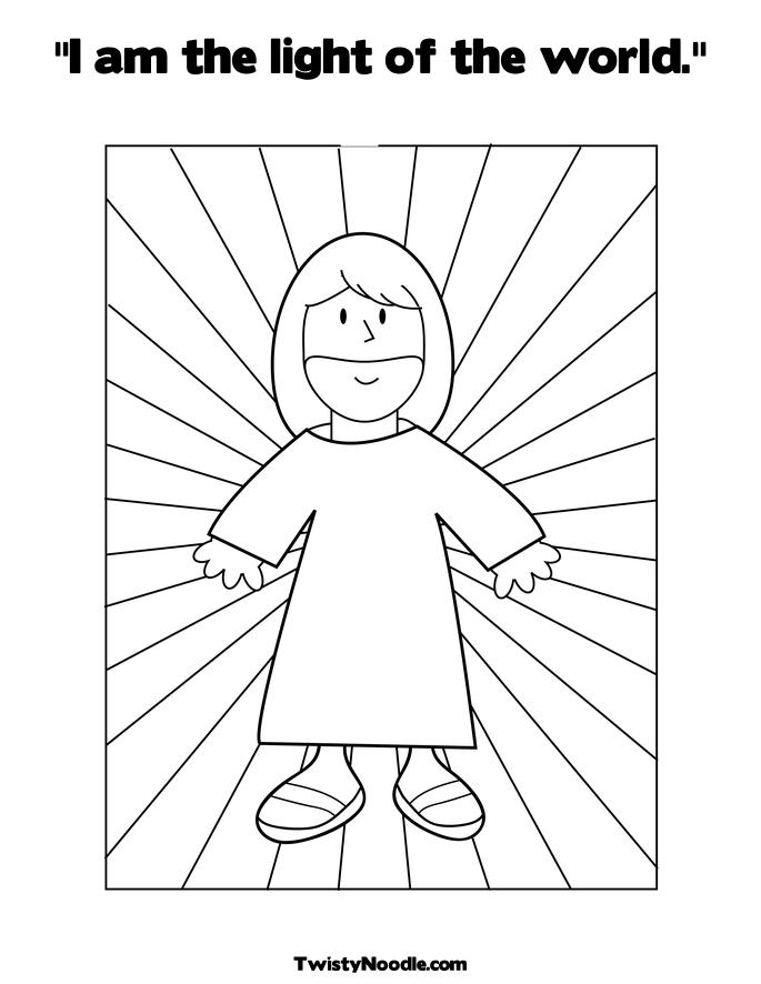 COLORING JESUS LIGHT PAGE WORLD « Free Coloring Pages