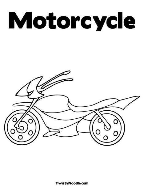 Harley Davidson Road King Motorcycle Coloring Page Sketch
