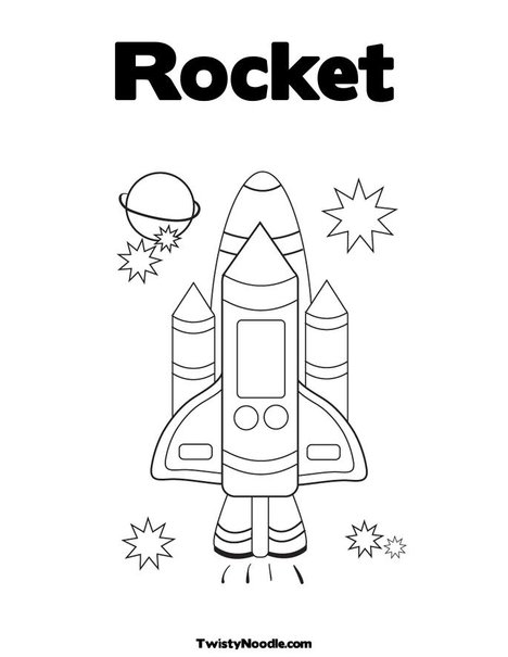 Rocket template for kids