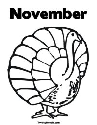 Free coloring pages of welcome november