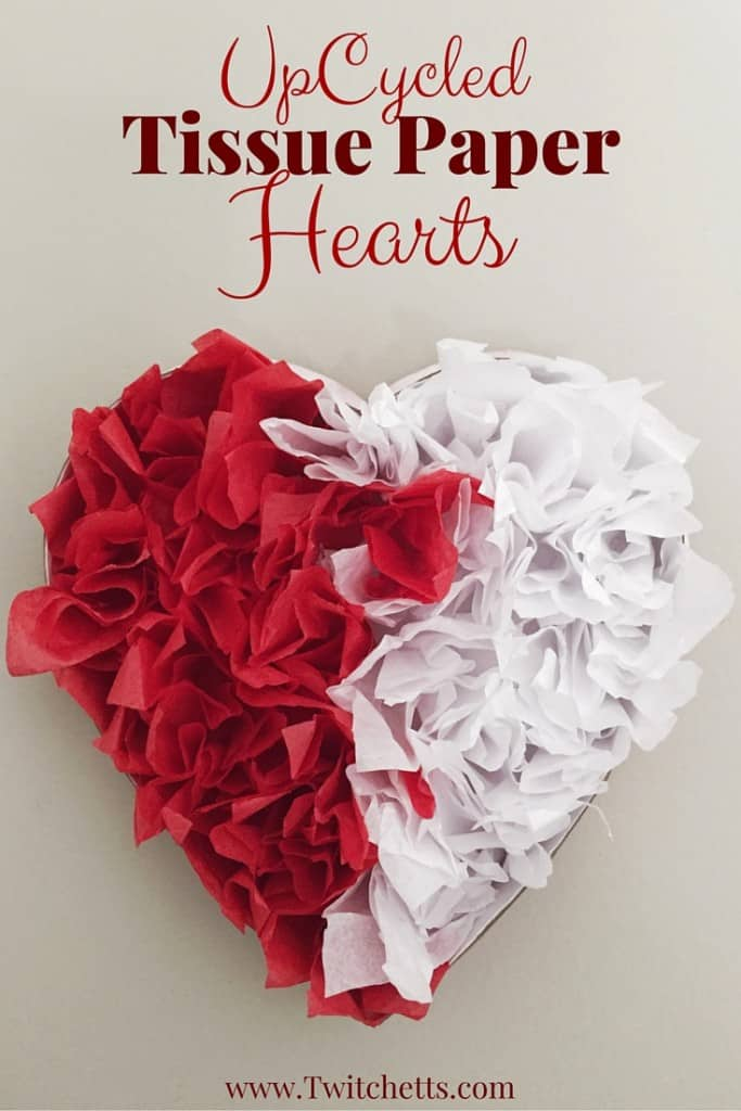 Paper Heart Decorations : paper, heart, decorations, Tissue, Paper, Hearts, Using, Recycled, Materials, Twitchetts