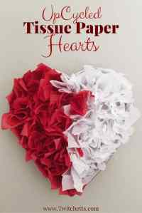 Tissue Paper Heart ~ Valentine's Day Decorations - Twitchetts