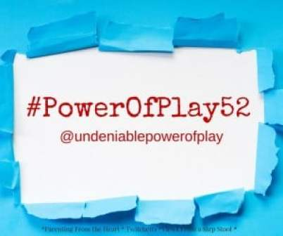 Join the Power of Play Challenge for 52 weeks of prompts to encourage you to teach your child through play. The Undeniable Power of Play.