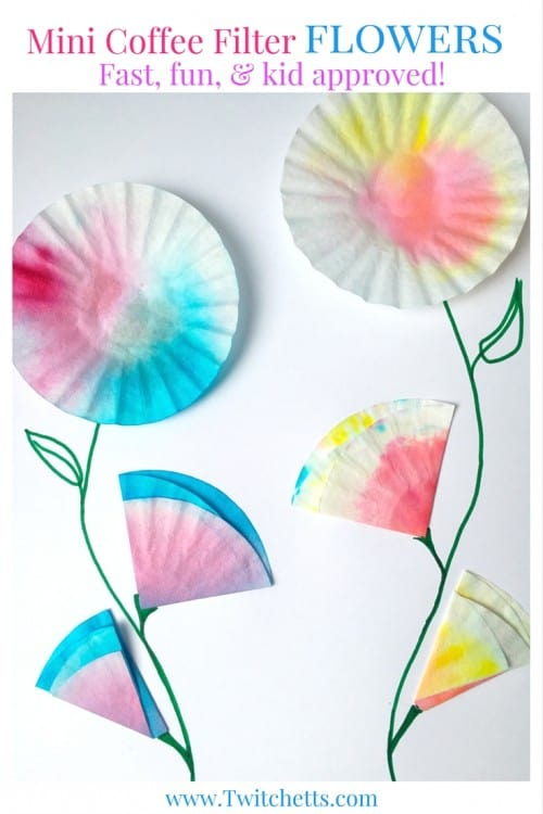Upcycled Crafts For Kids Mini Coffee Filter Flowers