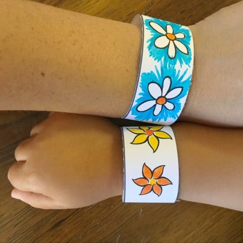 DiY Paper Bracelets For Kids Free Printable Twitchetts