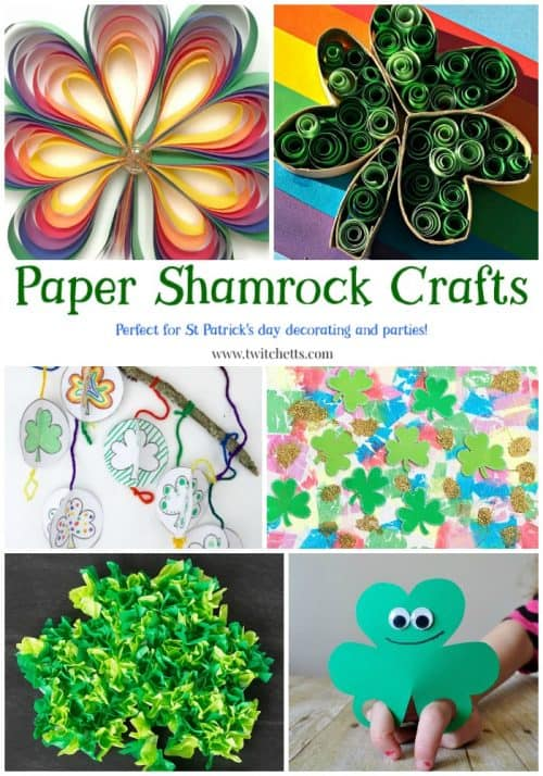 Paper Shamrock Crafts 14 Fun St Patrick S Day Arts And