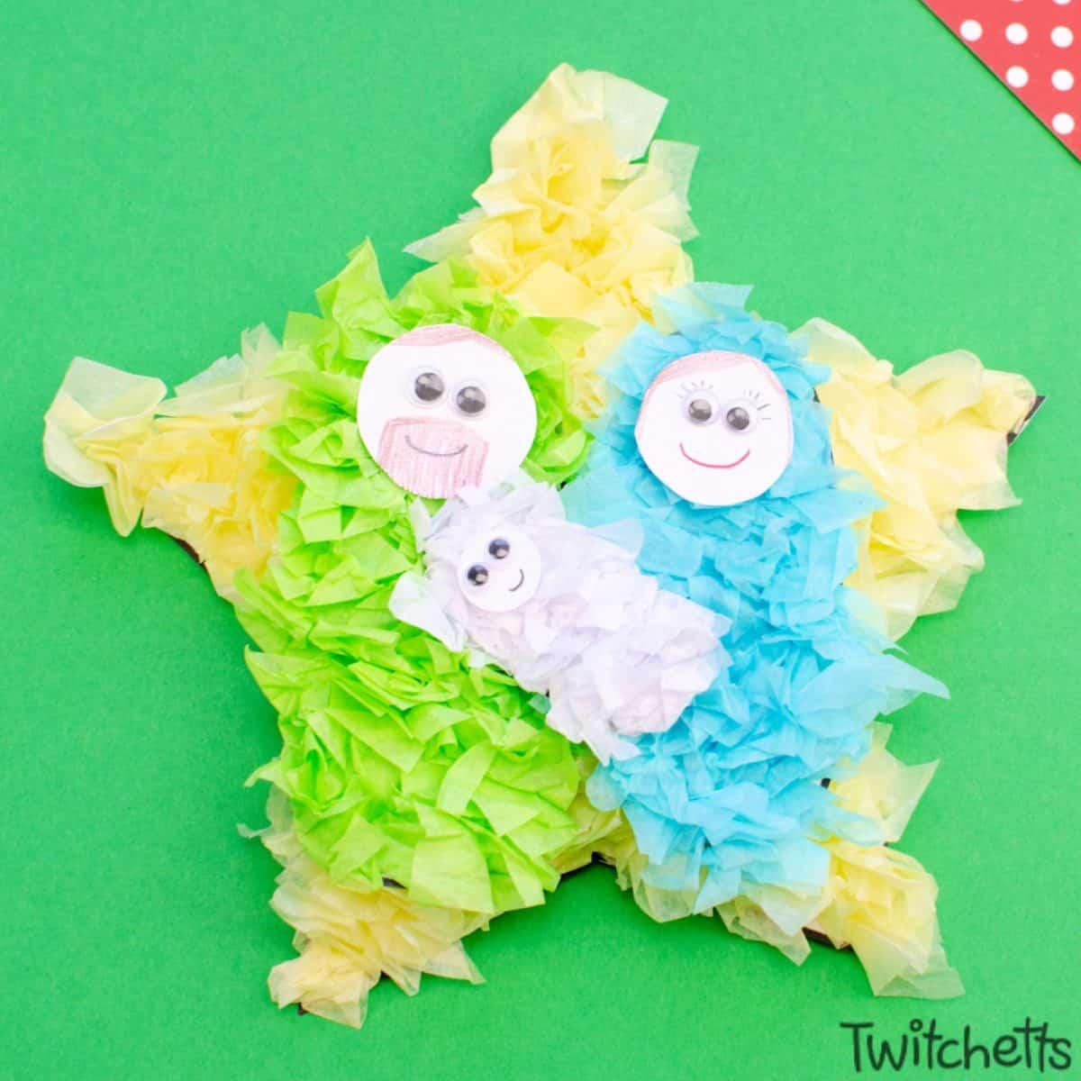 An Easy Sunday School Nativity Craft