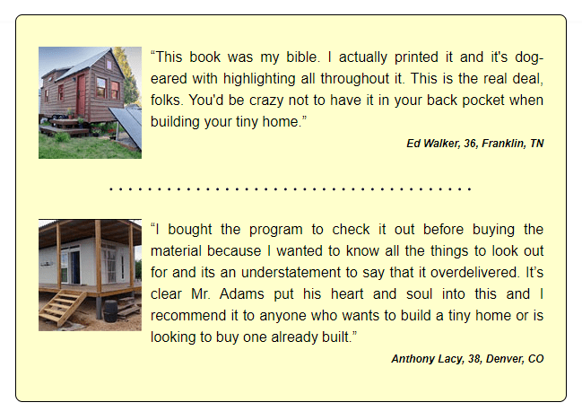 Tiny House Made Easy customer review