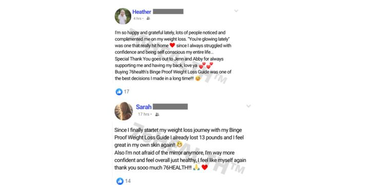 The Binge Proof Weight Loss customer reviews