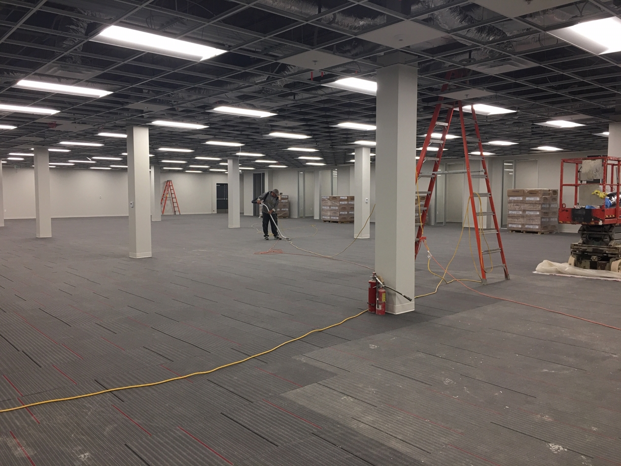 %name Large Retail Mall Store Rough Post Construction Clean Up in Dallas, TX