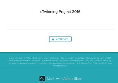 Adobe slate credits