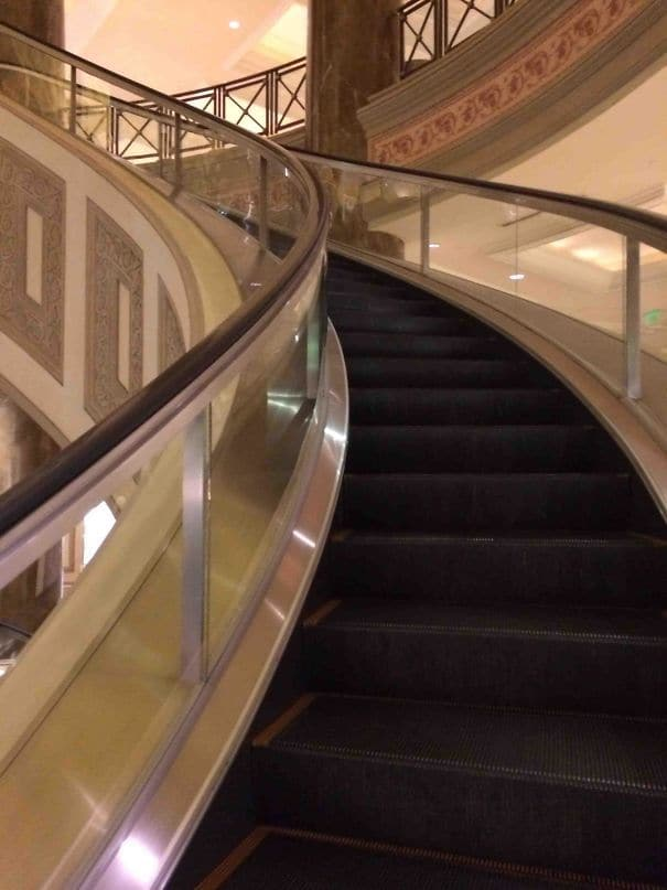 My Hotel Has Spiral Escalators