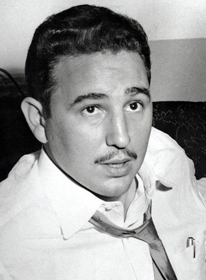 Portrait Of Fidel Castro In New York In 1955, During An Interview