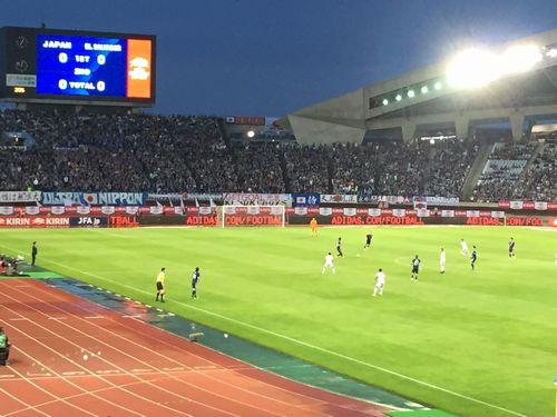 サッカー日本代表戦初観戦