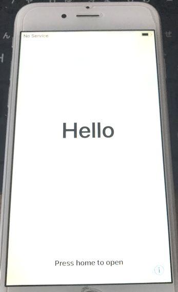 iPhone初期化後画面