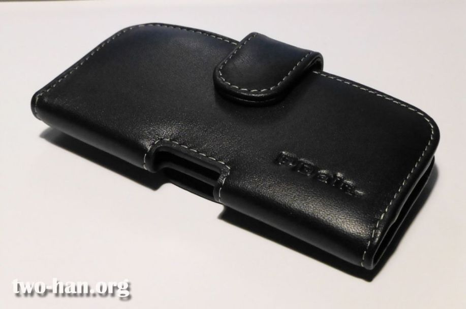 Leather Case for Apple iPhone 5 in Bumper/Cover Horizontal Pouch Type (Black)
