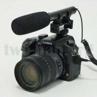 DMC-GH3とAZDEN・SMX-10。DSLRムービーカメラには外部マイクとしてベストサイズ&ベストルックス!ちなみにマイク本体の重さは52gです!(^^)v