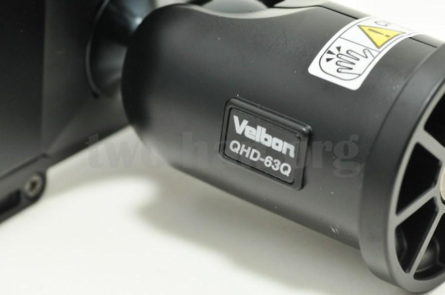 Velbon 自由雲台 クイックシュー装備 QHD-63Q/クイックシュー・ロゴ