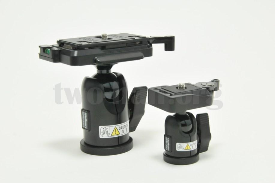 Velbon 自由雲台 クイックシュー装備 QHD-63QとQHD-33Q-3