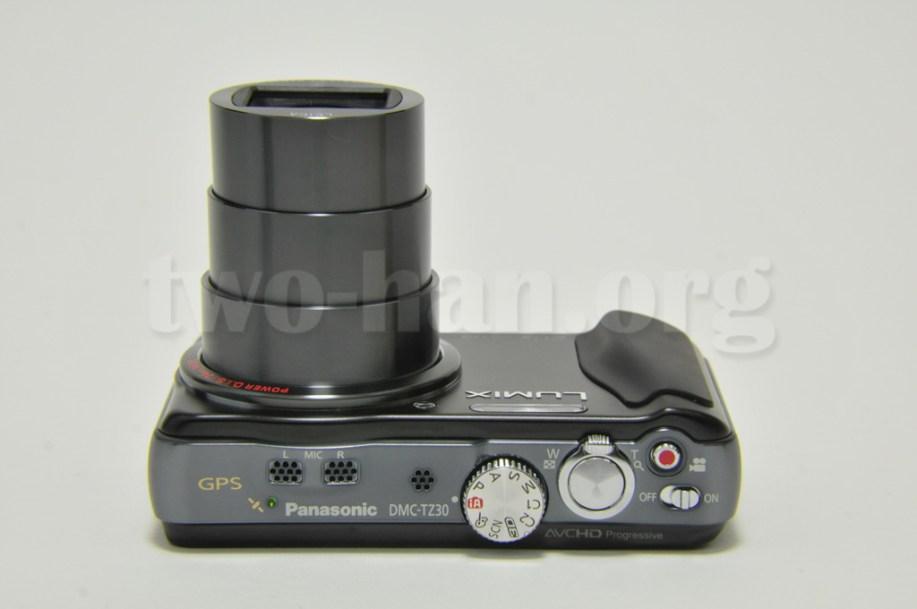 Panasonic LUMIX DMC-TZ30-K・レンズが一番伸びた状態