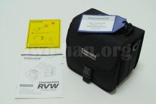 CineroidのEVF4RVW、多分使わないであろう専用バッグ...。(^_^;)