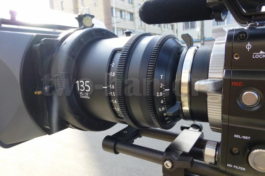 CineAlta 4Kカメラ PMW-F55の135mm単玉!