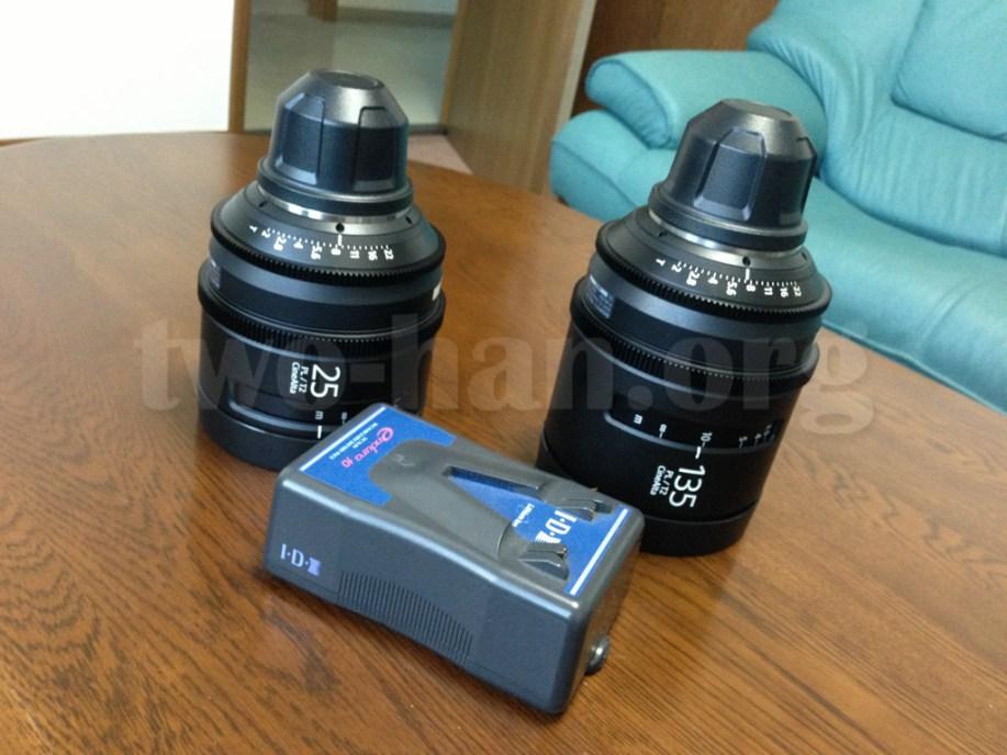 CineAlta 4Kカメラ PMW-F55のレンズ!デカイ!