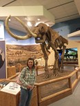 Checkin' out the fossil displays at Texas Tech's Museum.