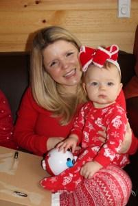 Hailey and her mama on Christmas Day.