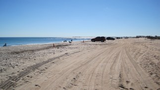 Nice day at St. Augustine Beach...and yes, you can drive on it!