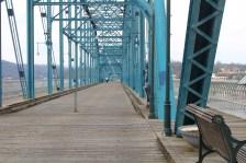 The Walnut Street Bridge.