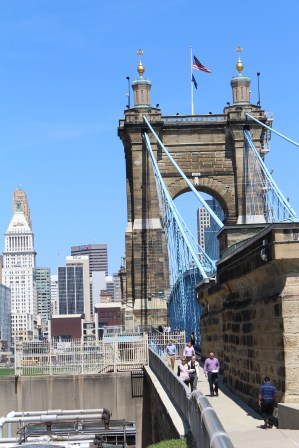 The John A. Roebling bridge.