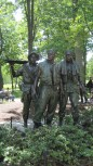 The Three Soldiers, part of the Vietnam Veteran's Memorial