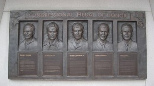 CMH recipients, part of the Korean War Memorial.