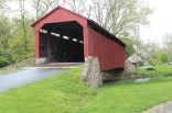Pool Forge covered bridge. They say President James Buchanan met his fiancé here at this bridge. She died before they could marry, so he remained a bachelor.