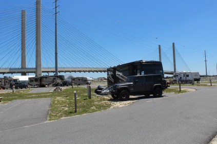 Home, at Delaware Seashore State Park, under the Indian River Inlet bridge.