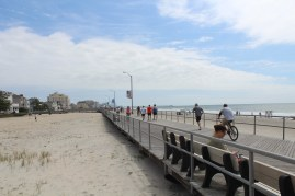 Looking north along the boardwalk toward Atlantic City.