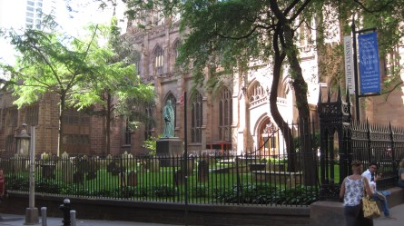 The Trinity Church, right across the street from Wall St.