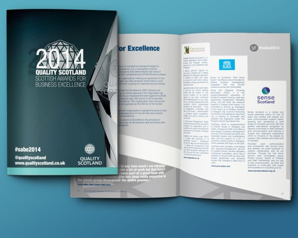 Two7design Quality Scotland Awards Brochure 2014