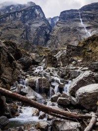 more rock, more water falls, more river crossings